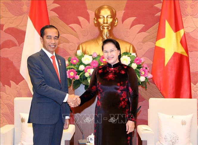 Chủ tịch Quốc hội Nguyễn Thị Kim Ngân tiếp Tổng thống Cộng hòa In-đô-nê-xi-a