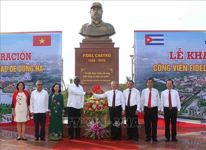 Khánh thành Công viên Fidel tại Quảng Trị