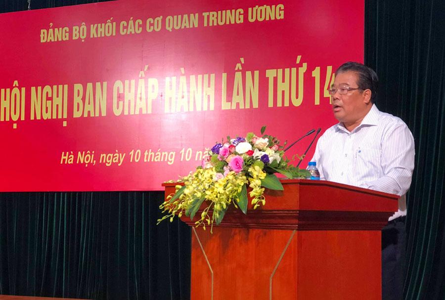 Đảng bộ Khối các cơ quan Trung ương triển khai nhiệm vụ công tác 3 tháng cuối năm 2018
