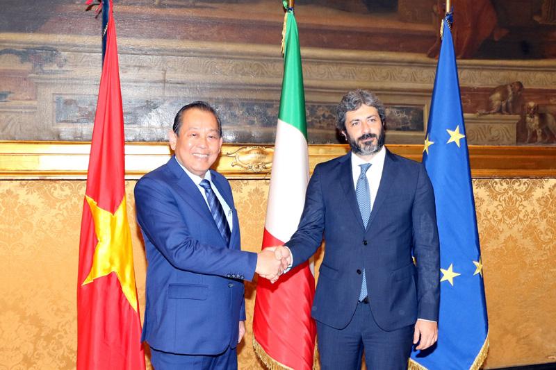 Phấn đấu đưa thương mại hai chiều Việt Nam - Italia lên 6 tỷ USD