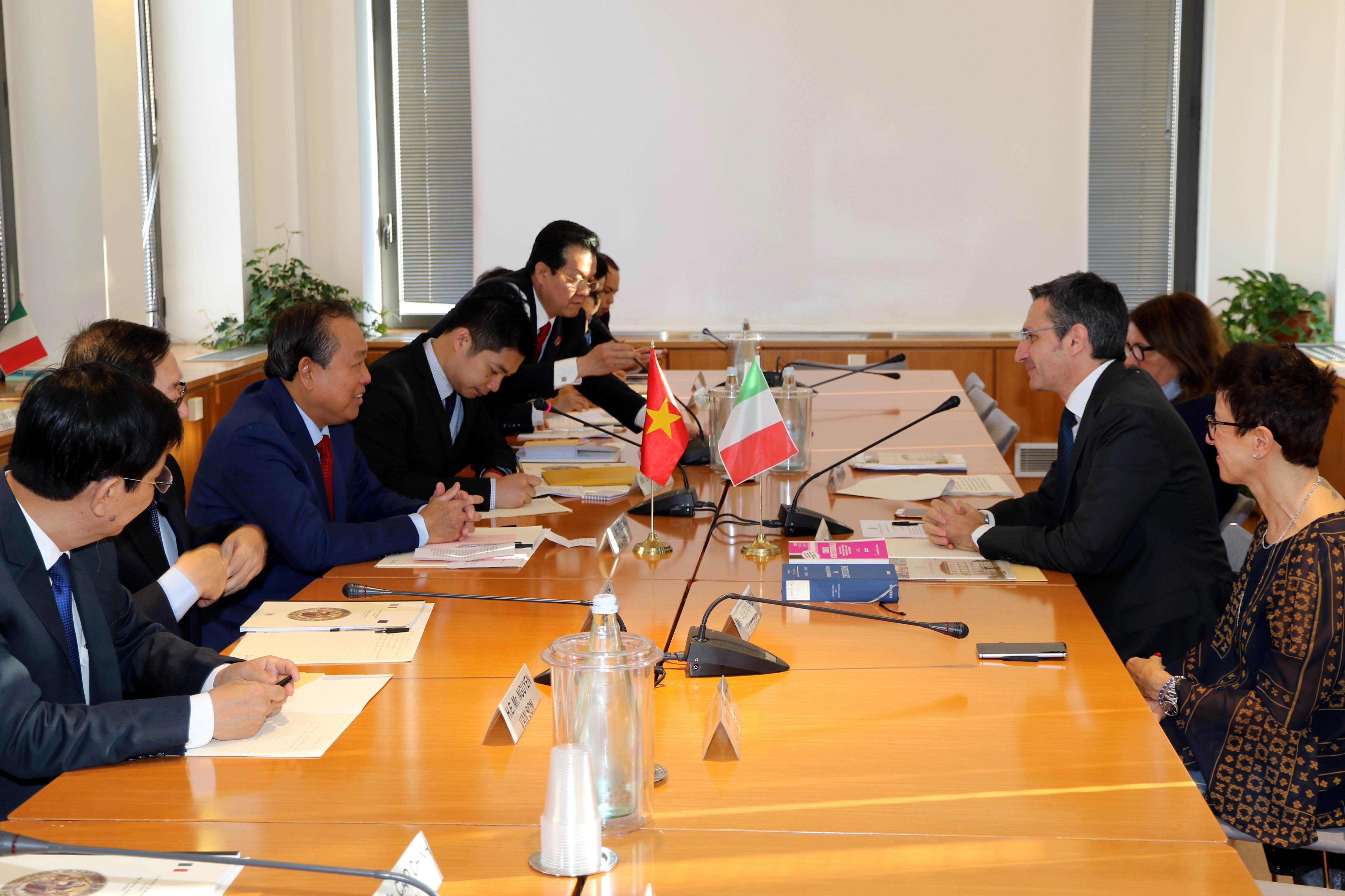 Việt Nam - Italia đẩy mạnh hợp tác, chia sẻ kinh nghiệm trong lĩnh vực tư pháp