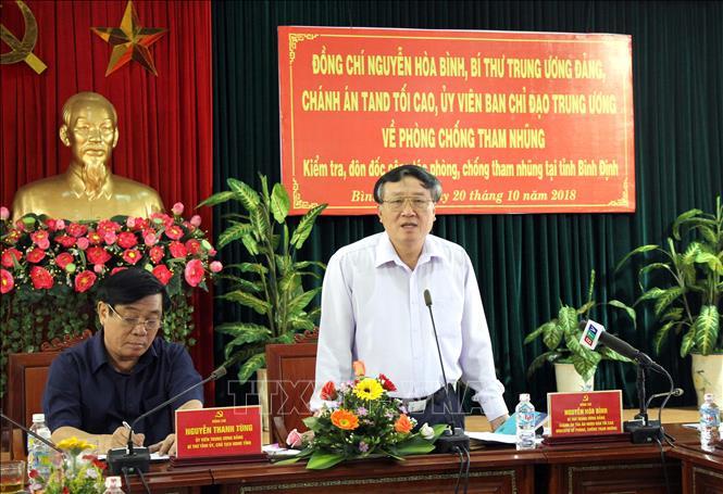 Kiểm tra, đôn đốc công tác phòng, chống tham nhũng tại tỉnh Bình Định