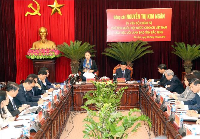 Chủ tịch Quốc hội: Bắc Ninh cần phát huy triệt để lợi thế để phát triển