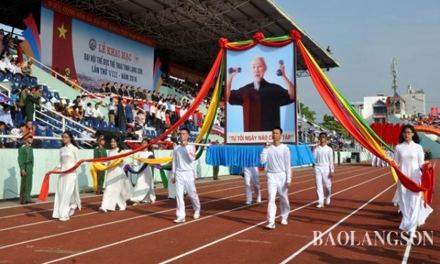Khai mạc Đại hội Thể dục thể thao tỉnh Lạng Sơn lần thứ VIII năm 2018