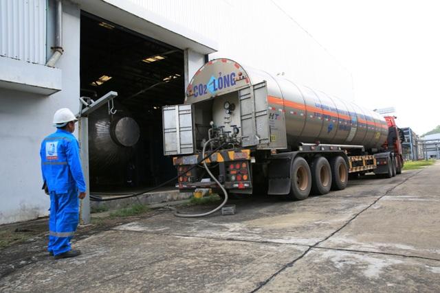 Xuất bán sản phẩm CO2 nhà máy nhiên liệu sinh học Dung Quất