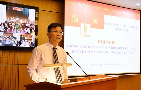 Bộ Tư pháp thông báo nhanh kết quả Hội nghị Trung ương 8 khóa XII
