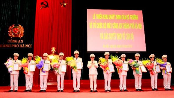 Công an Hà Nội giảm 50% số đơn vị cấp phòng