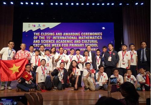 100% học sinh Việt Nam dự kỳ thi IMSO 2018 đều đạt huy chương