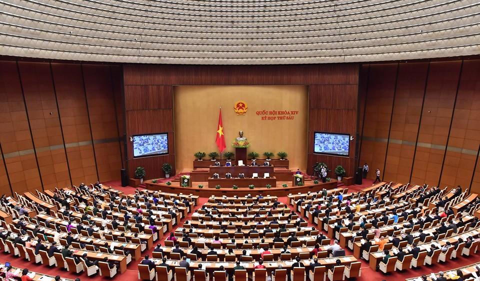 Thông cáo số 1 Kỳ họp thứ 6, Quốc hội khóa XIV