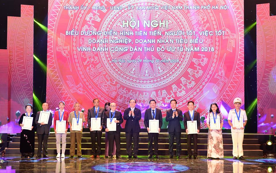 Hà Nội: Vinh danh công dân ưu tú, điển hình tiên tiến và doanh nghiệp tiêu biểu năm 2018