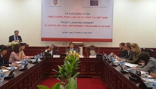 Khởi động Dự án tăng cường pháp luật và tư pháp tại Việt Nam