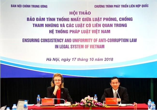 Bảo đảm tính thống nhất giữa Luật Phòng, chống tham nhũng và các luật có liên quan trong hệ thống pháp luật Việt Nam