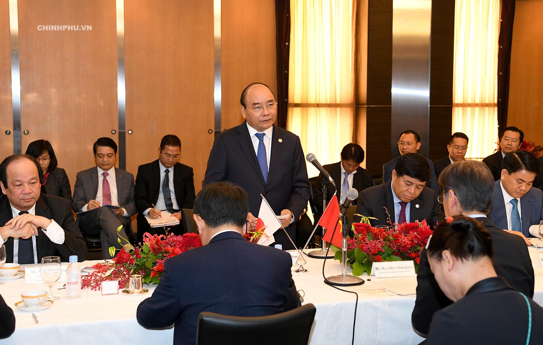Thủ tướng Nguyễn Xuân Phúc toạ đàm với các doanh nghiệp Nhật Bản