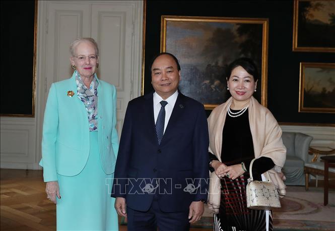 Thủ tướng Nguyễn Xuân Phúc hội kiến Nữ hoàng Đan Mạch