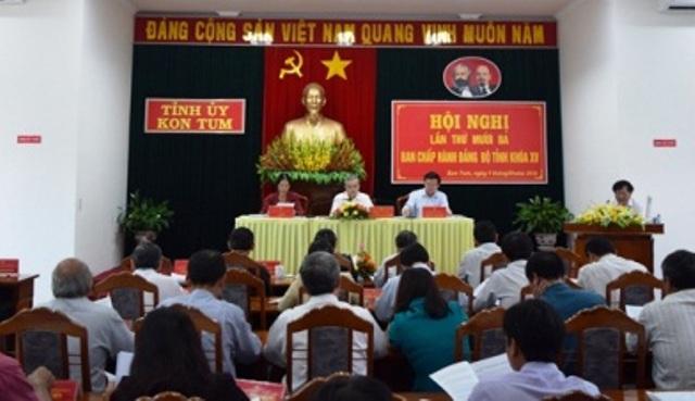 Tỉnh ủy Kon Tum tiến hành Hội nghị lần thứ 13