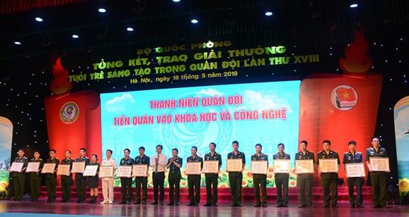Bổ sung tiêu chí xét thưởng Giải thưởng Tuổi trẻ sáng tạo trong Quân đội