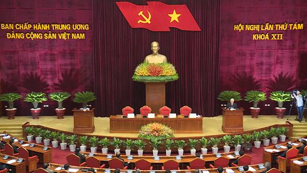 Thông cáo báo chí Phiên bế mạc Hội nghị lần thứ 8 Ban Chấp hành Trung ương Đảng khóa XII