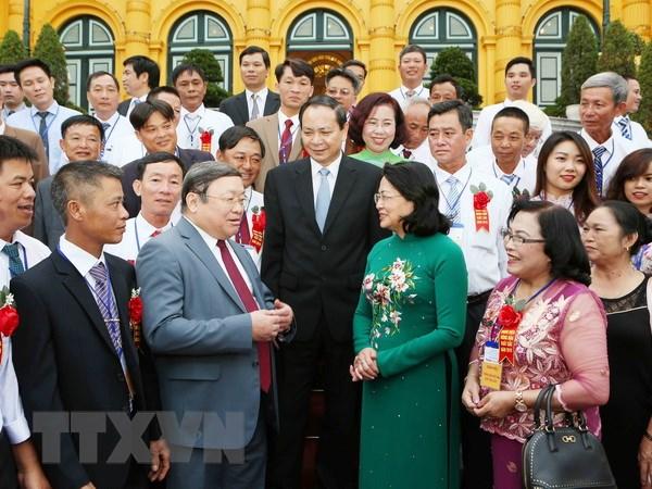 Quyền Chủ tịch nước Đặng Thị Ngọc Thịnh gặp mặt đại biểu nông dân Việt Nam xuất sắc năm 2018