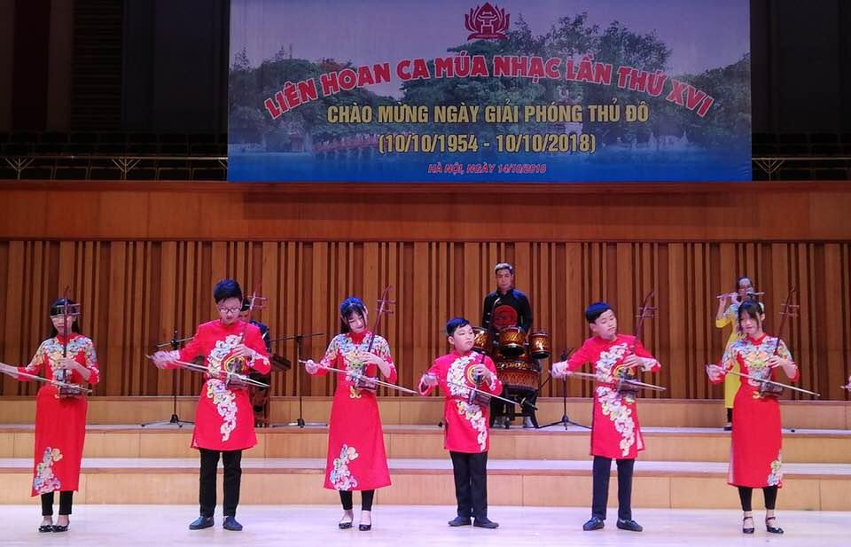 Sôi động Liên hoan ca múa nhạc Hiệp hội UNESCO thành phố Hà Nội lần thứ 16
