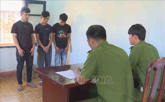 Bắt giữ nhóm đối tượng gây ra hàng chục vụ trộm cắp nông sản tại Đắk Lắk