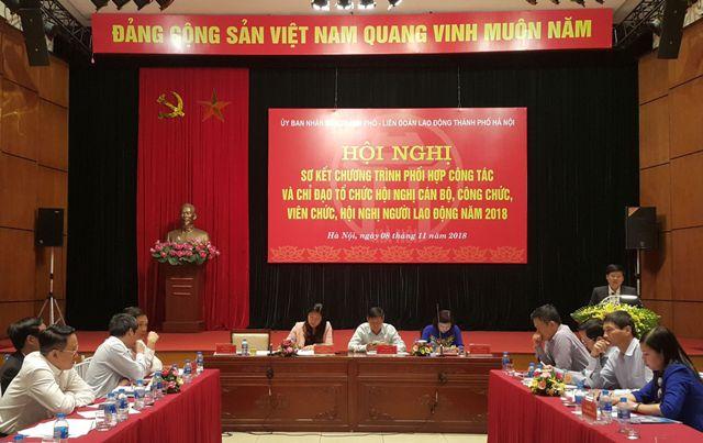 100% đơn vị, cơ quan, trường học trên địa bàn TP Hà Nội tổ chức Hội nghị cán bộ, công chức, viên chức