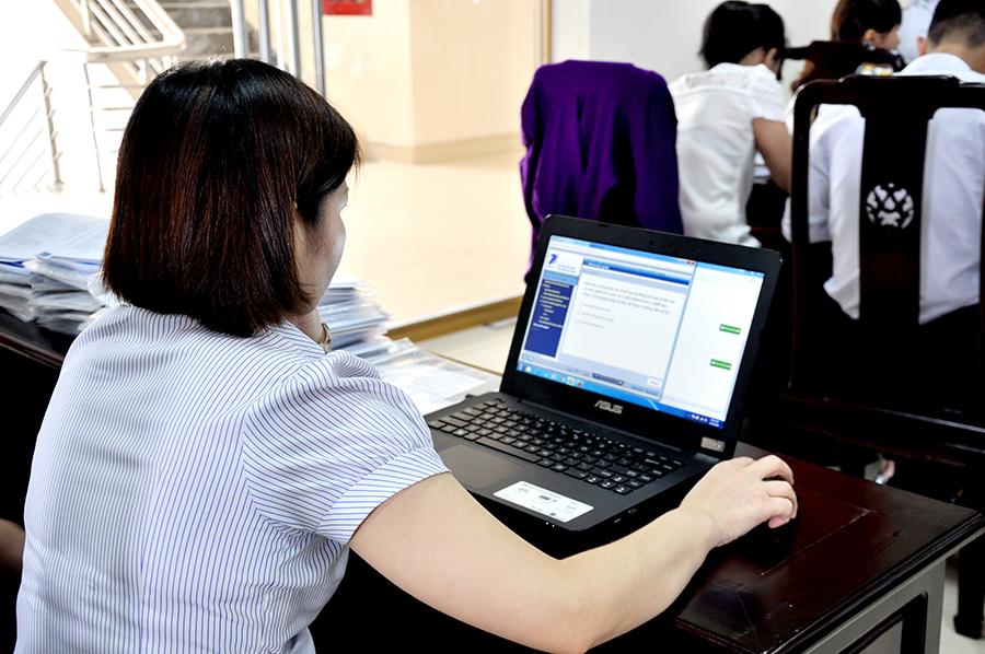 Tập huấn giao dịch điện tử BHXH ở thị xã Kỳ Anh