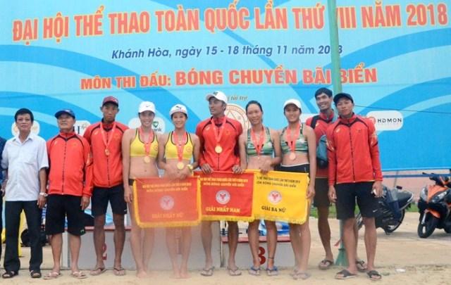 Khánh Hòa vô địch giải Bóng chuyền bãi biển Đại hội Thể thao toàn quốc