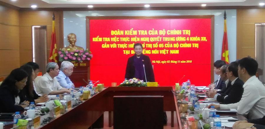 Kiểm tra việc thực hiện các Nghị quyết của Đảng tại Đài Tiếng nói Việt Nam