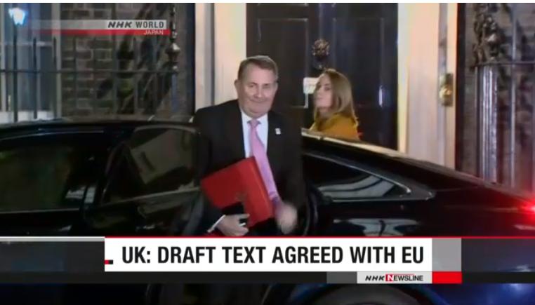 Anh và EU nhất trí dự thảo thỏa thuận về Brexit