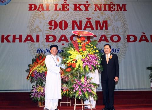 Chủ tịch Ủy ban Trung ương MTTQ Việt Nam gửi thư chúc mừng Đại lễ Khai đạo Cao Đài