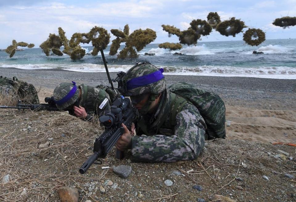 Hàn-Mỹ nối lại tập trận chung thủy quân lục chiến