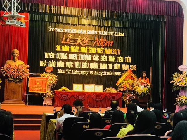 Nam Từ Liêm, Hà Nội: Tri ân thầy cô giáo, tôn vinh điển hình nhà giáo mẫu mực tiêu biểu 2018