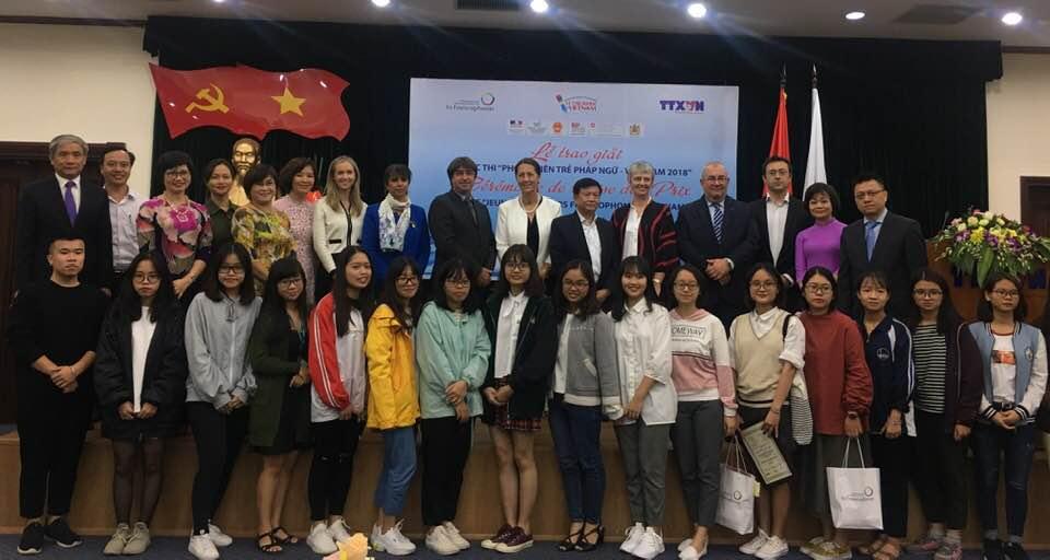 """Trao giải Cuộc thi """"Phóng viên trẻ Pháp ngữ Việt Nam 2018"""""""