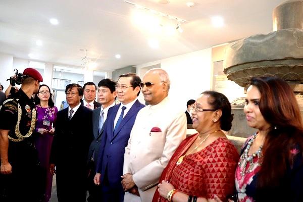 Tổng thống Ấn Độ tham quan di sản văn hóa ở Đà Nẵng và Quảng Nam