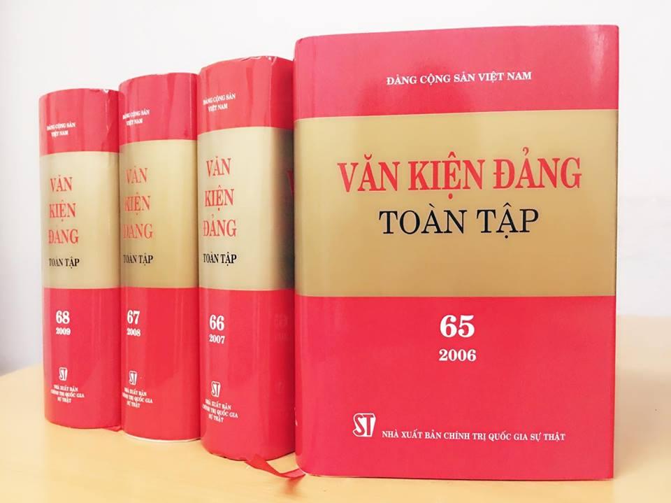 Xuất bản 4 tập Văn kiện Đảng Toàn tập (từ tập 65 đến tập 68)