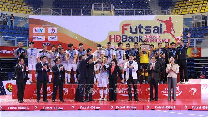 CLB Thái Sơn Nam bảo vệ thành công ngôi vô địch giải Futsal HDBank Cúp quốc gia 2018