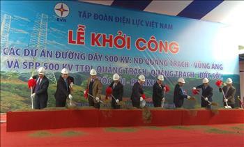 Lễ khởi công các dự án đường dây 500 kV Nhiệt điện Quảng Trạch – Vũng Áng