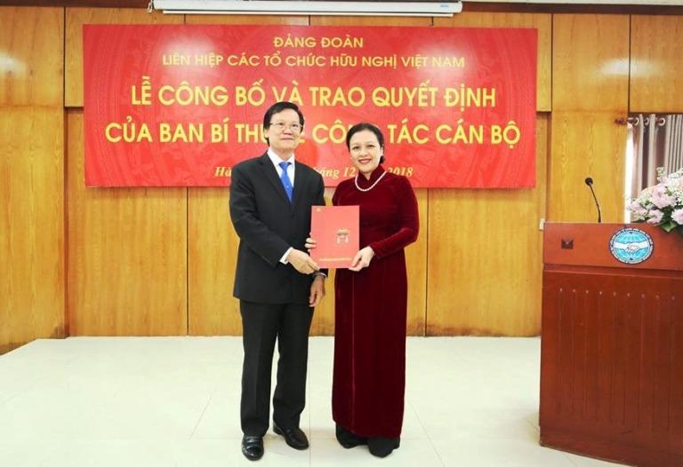 Thứ trưởng Nguyễn Phương Nga giữ chức Bí thư Đảng đoàn Liên hiệp các tổ chức hữu nghị Việt Nam