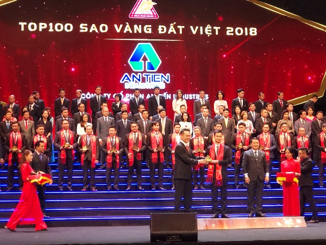 Công ty An Tiến Industries (HII) lọt top 100 thương hiệu tiêu biểu Việt Nam