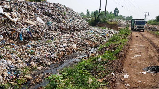 Vĩnh Yên (Vĩnh Phúc): Cần sớm di dời bãi rác tạm Gò Rùa, Khai Quang đã quá tải, không đảm bảo vệ sinh môi trường