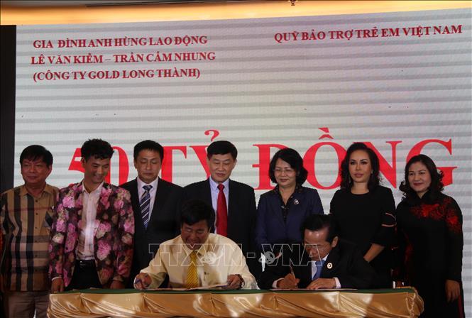 Tài trợ gần 80 tỷ đồng cho Quỹ Bảo trợ trẻ em Việt Nam