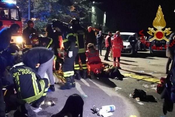 Italy: Giẫm đạp trong hộp đêm, hơn 120 người thương vong