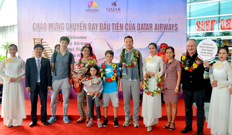 Chuyến bay đầu tiên của hãng hàng không Qatar Airways đến Đà Nẵng