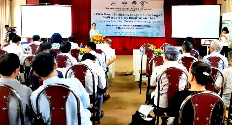JICA đang tiến hành dự án cải thiện môi trường nước khu vực Chùa Cầu, Hội An