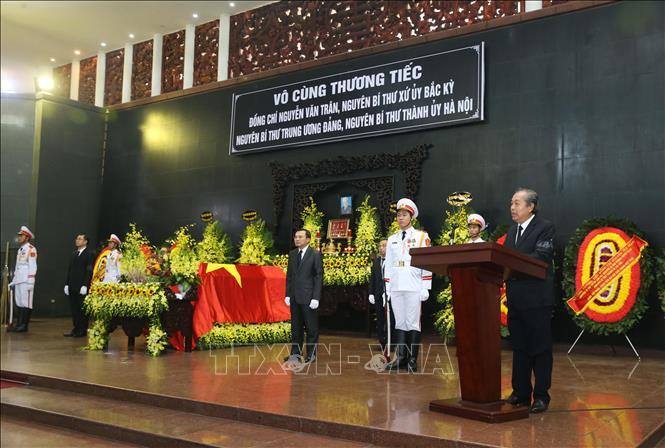 Tổ chức trọng thể Lễ tang đồng chí Nguyễn Văn Trân