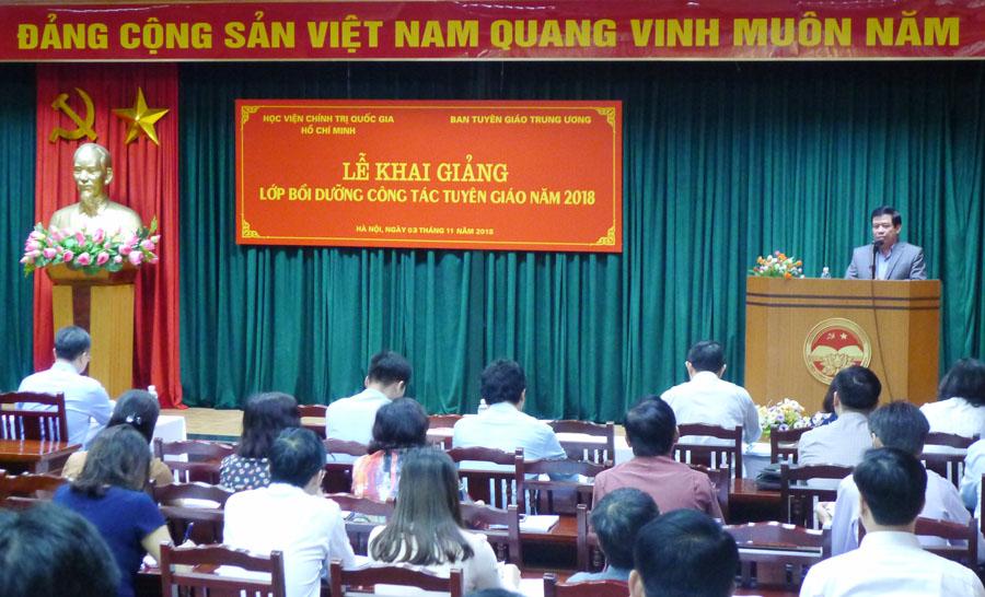 Khai giảng lớp bồi dưỡng nghiệp vụ công tác Tuyên giáo