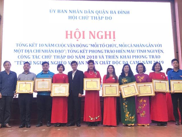 Quận Ba Đình (Hà Nội): Phong trào Chữ Thập đỏ đạt nhiều kết quả đáng khích lệ