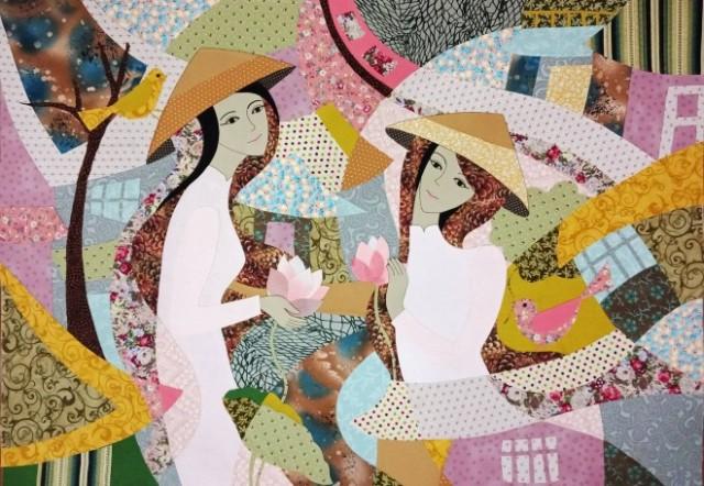 Họa sỹ Nguyễn Thu Huyền và giấc mơ về tranh ghép vải
