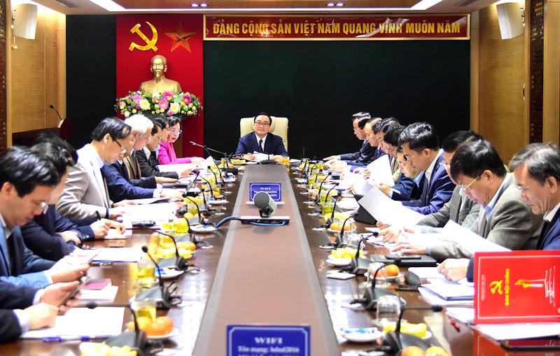 Bí thư Thành ủy Hà Nội: cần đẩy nhanh tiến độ, điều tra, xét xử các vụ án nghiêm trọng