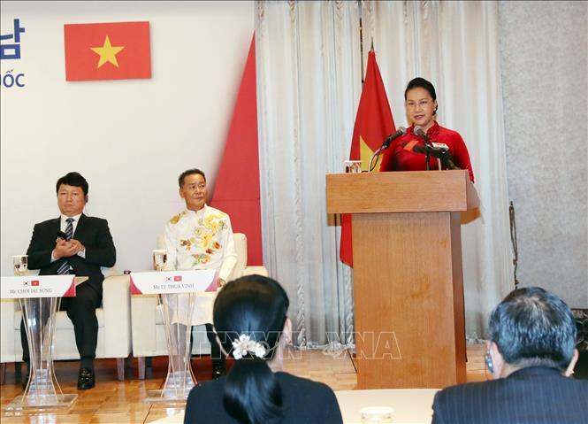 Chủ tịch Quốc hội Nguyễn Thị Kim Ngân gặp gỡ nhân sĩ hữu nghị Việt Nam – Hàn Quốc